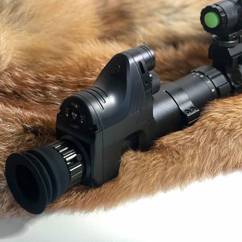 Noite Digital Vision Riflescope Tático Caça Optics Monocular Infravermelho Day Night Vision Scope Com Wi-fi E Gravação de Vídeo