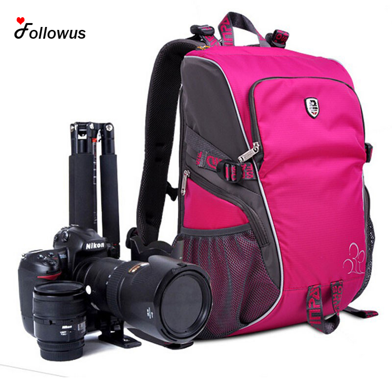 New 3 Color Camera Bags Deluxe DSLR SLR Camera Backpack Rucksack Bag Case RainCover For Nikon Sony Canon Photo Bag for Camera free shipping camera bags deluxe dslr slr camera backpack rucksack bag case raincover for nikon sony canon photo bag for camera