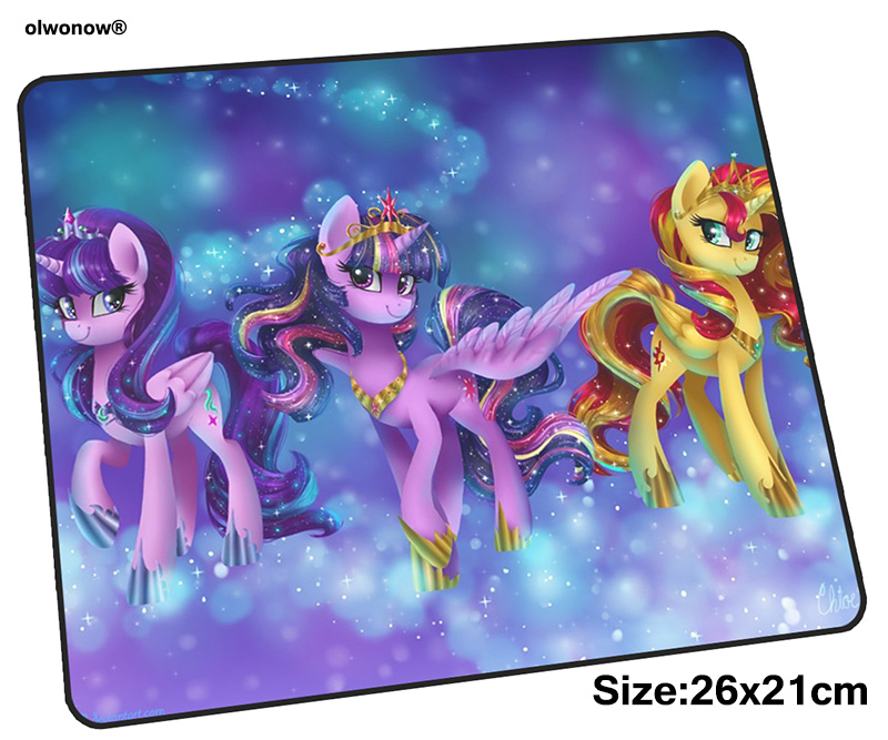My Little Pony Mousepad 26x21cm Gaming Mouse Pad Big Gamer Mat High-end Game Computer Desk Padmouse Keyboard Locrkand Play Mats
