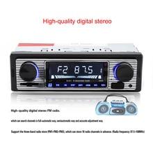 1 Дин Bluetooth Радио плеер стерео FM MP3 USB SD AUX автомобильного аудио игрока в тире Авто Электроника авто Радио автомобилей 12 В