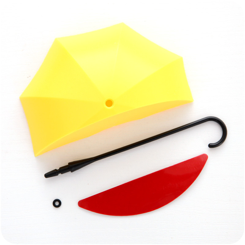 Creative fruit color umbrella hanging non trace small sticky hook ...