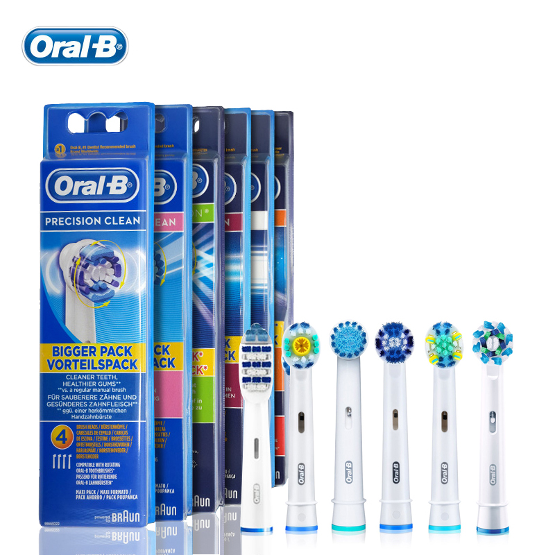 Genuine Oral B Toothbrush Head Precision Clean Replaceable Brush Heads for Oral B Rotation Type Electric Toothbrush Six Type HOT high quality compatible projector bulb with housing et lad35 fit for pt d3500 pt d3500e
