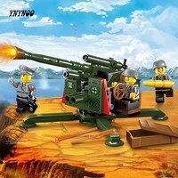 YNYNOO Enlighten1704 Stad SWAT Serie Militaire Hoge Grond Anti Vliegtuigen Gun Bouwsteen Compatibel Met Lepin Bricks Speelgoed