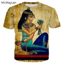 3D T Shirt Printed Ancient Egyptian Men/women Vintage Streetwear T-shirt Youth Retro Egypt Tshirt Tops Clothes Big Size 5XL 6XL