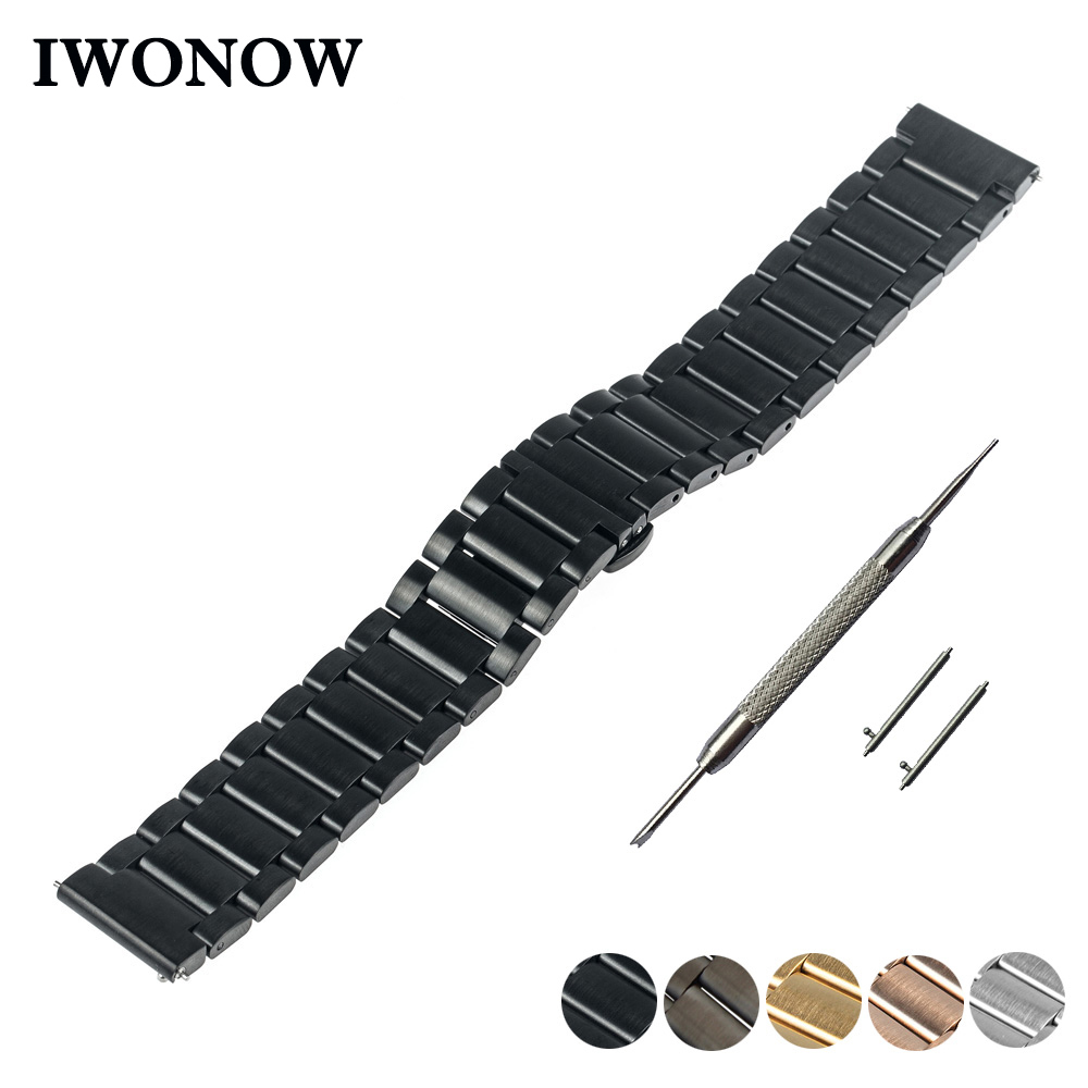 Stainless Steel Quick Release Watch Band 16mm 20mm 22mm