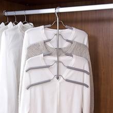 Multi layer sponge anti slip hanger clothing support stainless steel multi functional clothing hanging Storage rack