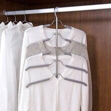 Multi layer sponge anti slip hanger clothing support stainless steel multi functional clothing hanging font b
