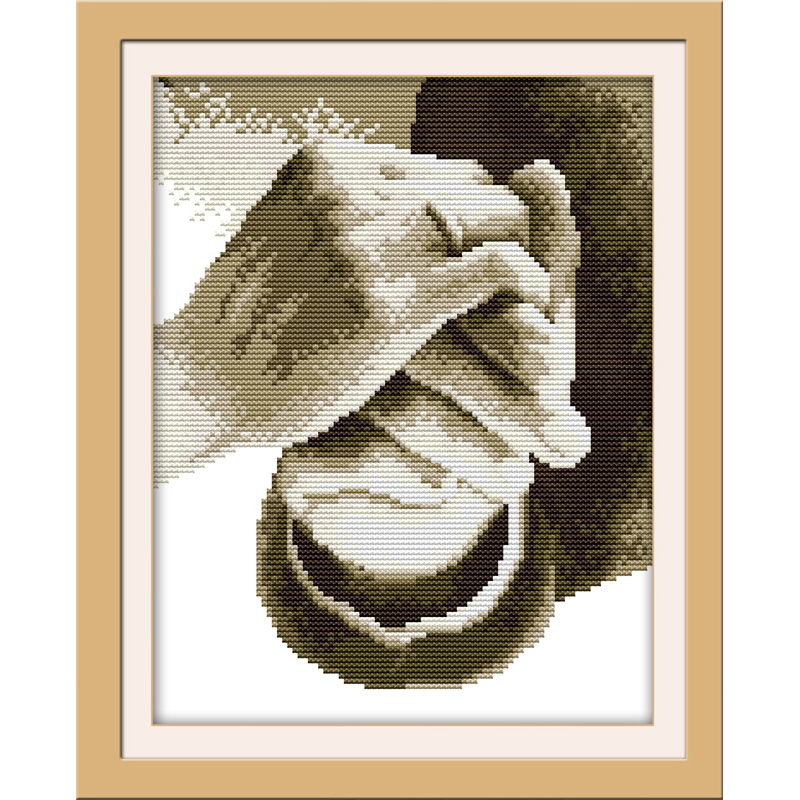 Joy Sunday Hold your hand Chinese cross stitch kits Ecological cotton clear stamped printed 11CT DIY wedding decoration for home