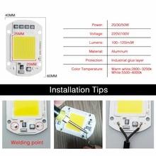 LED Matrix 20W 30W 50W 110V 220V Diode Array High Power Smart IC Chip Light For Searchlight matrix Outdoor Spotlight Floodlight
