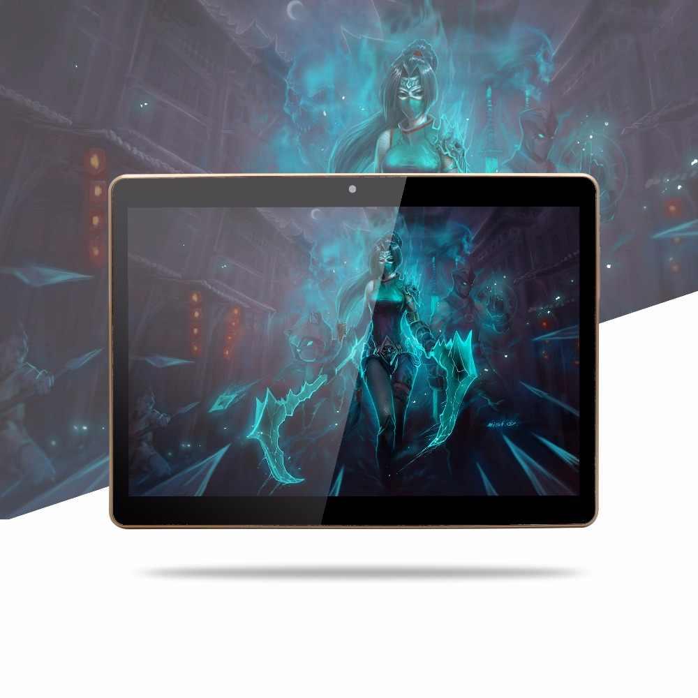 BDF Original 4G LTE teléfono llame a la tableta de 10 pulgadas Octa Core 4G + 64G Android 7,0 Tablet pc WiFi Bluetooth Dual SIM tarjetas IPS LCD 10,1