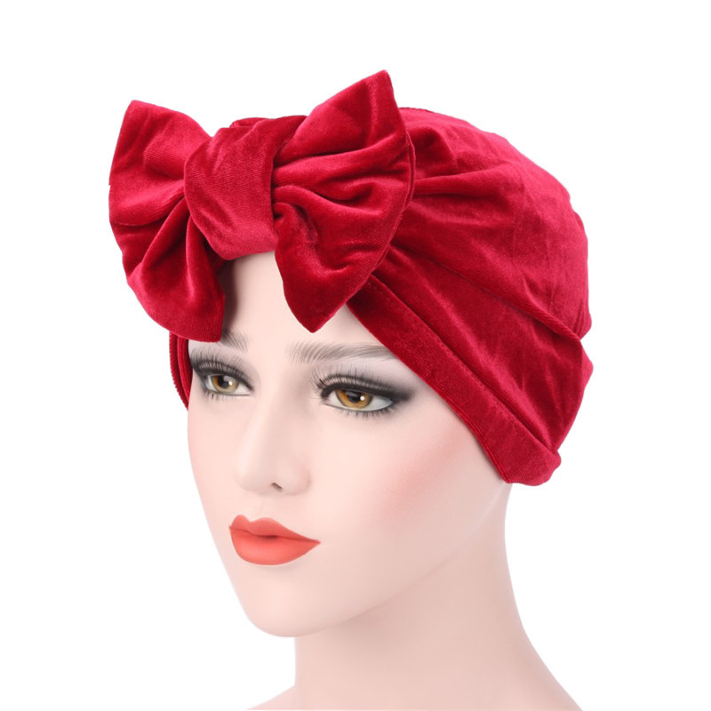 c45875c24ff 2018 Butterfly Knot Muslim New women luxury bowTurban Hat Stylish Chemo cap  with the detachable bowknot-in Women s Hair Accessories from Apparel  Accessories ...