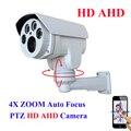 Аналогового High Definition AHD МИНИ Ptz-камера Пули ИК Открытый Полный HD 1080 P AHDH 960 4X Зум, Авто-Фокус 2.8-12 мм С Переменным Фокусным Расстоянием 2-МЕГАПИКСЕЛЬНАЯ