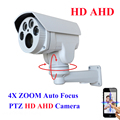 Analog AHD Alta Definição MINI Câmera Da Bala IR Câmera PTZ Ao Ar Livre Completo HD 1080 P AHDH 960 4X Auto Foco Zoom 2.8-12mm Varifocal 2MP