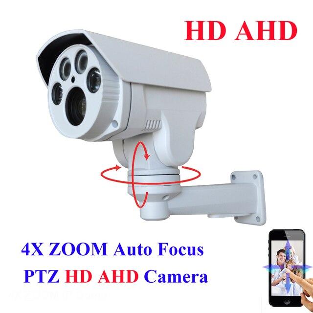Analog High Definition AHD MINI PTZ Bullet Camera IR Outdoor Full HD 1080P AHDH 960 4X Auto Focus Zoom 2.8-12mm Varifocal 2MP
