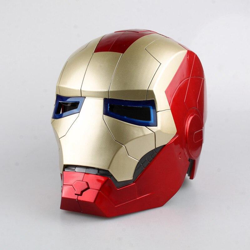 Marvel Shield America <font><b>Anime</b></font> Avengers iron Man Helmet Light Eye <font><b>Cosplay</b></font> <font><b>Action</b></font> <font><b>Figure</b></font> Toys Juguete 22cm Kid Collection <font><b>Model</b></font> 0294