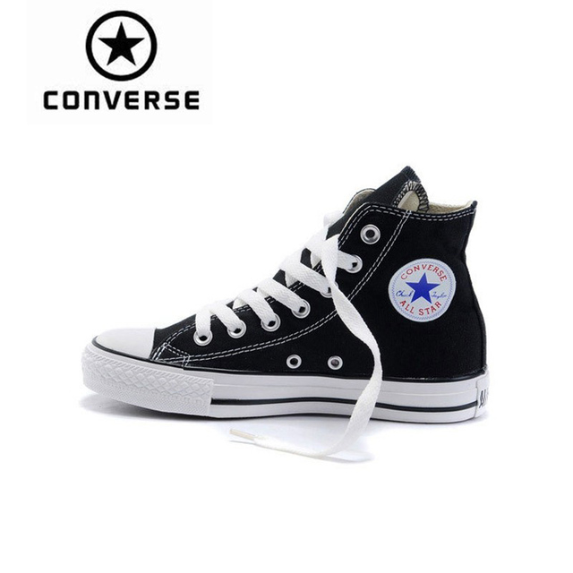 Converse Men And Women Skateboarding Shoes Classic Unisex Canvas High Top  Anti-Slippery Resistant Comfortable leisure Quick dry d659171866e0