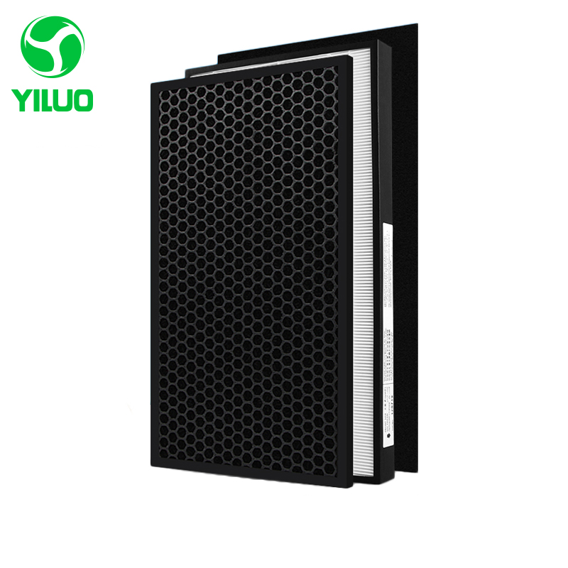 все цены на High efficiency hepa filter deodorization filter activated carbon filter cotton of air purifier parts for F-ZXFP35C F-ZXFD35 etc онлайн