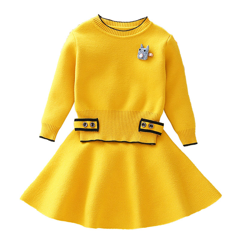 Women Clothes Units Children Knitted Fits Lengthy Sleeve Jackets+Skirts 2Pcs for Children Fits Women Get together Go well with Women Outerwear CA373 Clothes Units, Low-cost Clothes Units, Women Clothes...