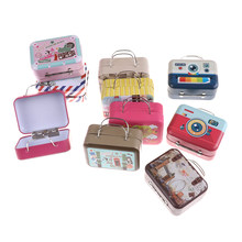 Pocket Furniture DIY Doll House Kit Mini Trunk Toy Miniatura Dollhouse Miniature Suitcase 1:6 Dollhouse Scene Accessories(China)
