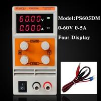 KUAIQU Mini DC Power Supply Laboratory Power Supply Digital Variable Adjustable Power Supply 60V 5A 0