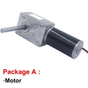 Image 2 - 高トルクワームギヤードモータ 12 v 24 v dcモータ軸の長さ 51 ミリメートルスピード 5 に 470 rpm自己ロック可変速逆