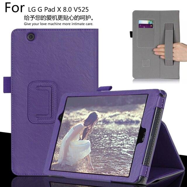 Для LG G PAD X 8.0 V521WG G PAD 3 8.0 V525 Tablet Luxury Кожаный Бумажник Карты Ручной Ремешок Стенд Чехол + Pen