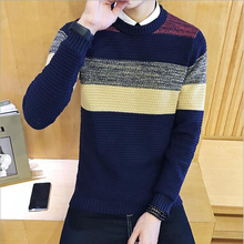 2016 Hot Sale New Fashion Brand Men's Patchwork Color Pullovers Computer Knitted Casual Knitted Sweater Plus size 5xl