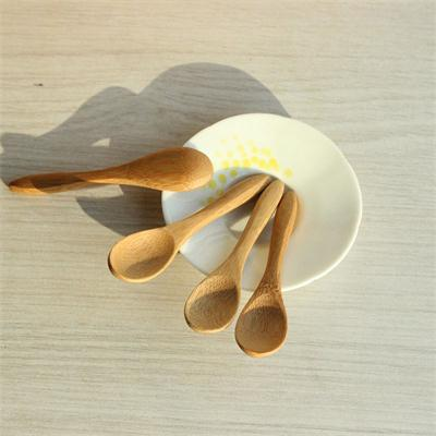 Hot Small Mini Wooden Spoons For Kids Honey Kitchen Using Condiment Spoon 9.2*2.0cm Cucharas <font><b>Colheres</b></font> image