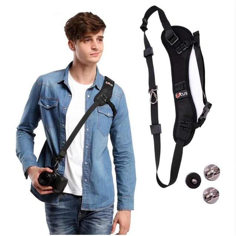 Wrumava Focus F-1 Camera strap Belt Quick Rapid Carry Speed Soft Pro Shoulder Sling Belt Neck Strap For Camera SLR DSLR Black