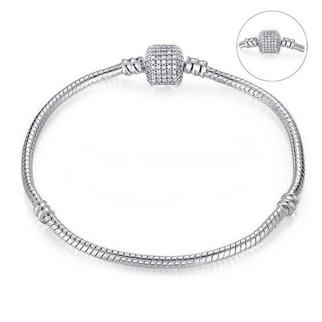 Высокое качество 16-21 см змейка цепь звено браслет подходящая Европейская Подвеска DIY браслет для женщин DIY Мода для украшения подарка - Окраска металла: C001