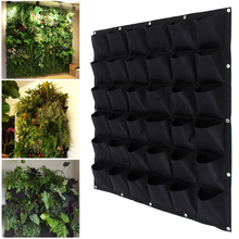 Wall Garden Grow Bag Pockets Felt Vertical Planter Wall-mounted Flower vegetable seedling Hanging Planting Indoor Growing Pot