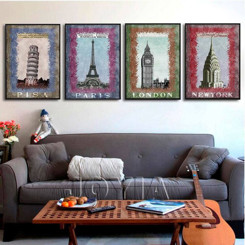 ③4 Piece Canvas Painting Modern Paintings European Famous ...