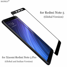 2PCS Tempered Glass For Xiaomi Redmi Note 5 Pro Screen Protector Redmi Note 5 Full Cover for Xiaomi Redmi Note 5 Pro Film HATOLY luanke full protective film for xiaomi redmi note 5 2pcs