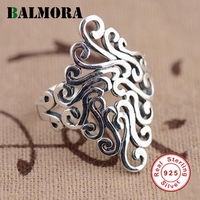BALMORA Unique Design 100 Real 925 Sterling Silver Irregular Rings For Women Men Fashion Jewelry Anillo