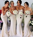 Elegant Sweetheart Long Mermaid Bridesmaid Dress With Sequins Pearls Beaded Vestido Madrinha Casamento