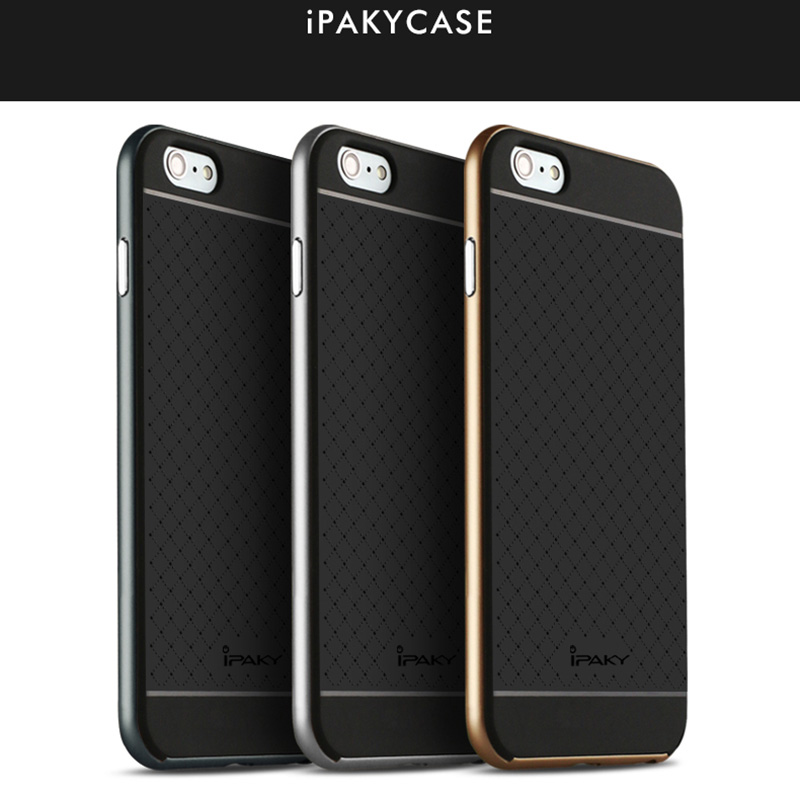 Luxury New iPaky brand Case for iPhone 6 / 6s Plus New Hybrid Super armor Protection Silicone Back with Frame for iPhone 6 / 6s