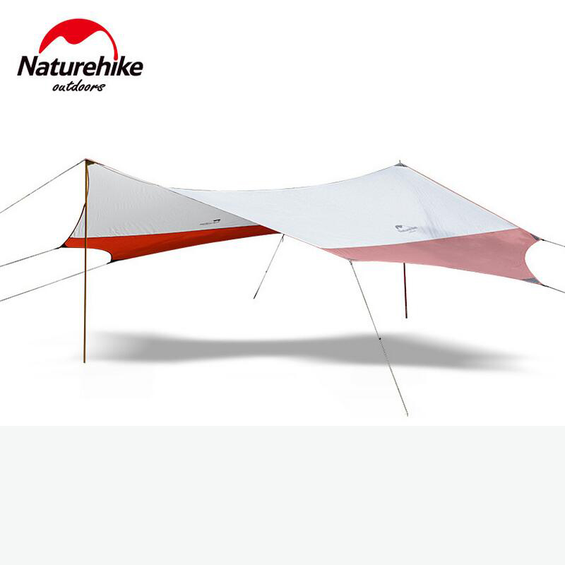 Naturehike Outdoor awning tent Camping beach large pergola tarp gazebo folding canopy camping tent for car sun shelter large outdoor camping pergola beach party sun awning tent folding waterproof 8 person gazebo canopy camping equipment