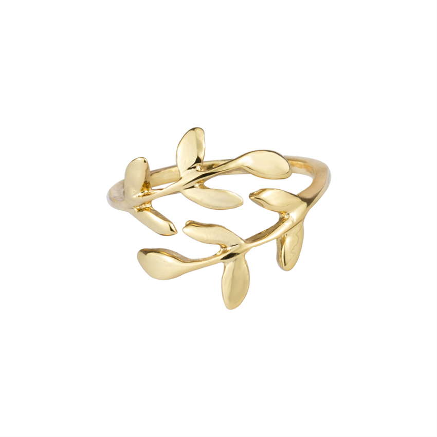 10PCS Summer Jewelry Gold/Silver/Rose Gold Color Unique Laurel Leaf Rings Adjustable Leaves Leaf Shape Finger Ring