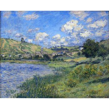 Claude Monet paintings on Canvas Vetheuil, Paysage hand-painted wall art decor High quality