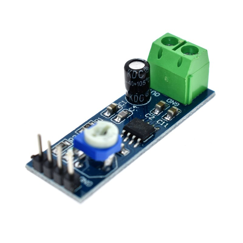 LM386 audio power <font><b>amplifier</b></font> <font><b>module</b></font> 200 times gain <font><b>amplifier</b></font> board mono power <font><b>amplifier</b></font> <font><b>5V</b></font>-12V Input image