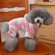 FA06 dog Coral velvet coat pet clothes winter autumn warm christmas clothing for pet leopard dog clothes chihuahua pet outfits