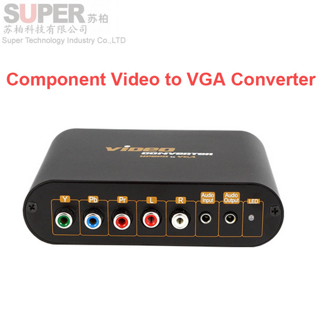 lvk7600 Component video to VGA Video Converter,change YPbPr to Composite Video&S-video converter YPbPr AV to VGA output adapter