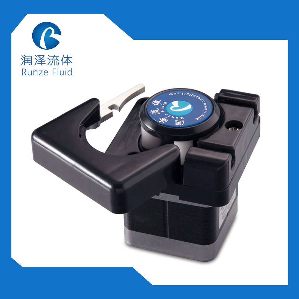 Chemicals Self Priming Pump Peristaltic Flow Adjustable Silicon Rubber Tubing Runze Factory