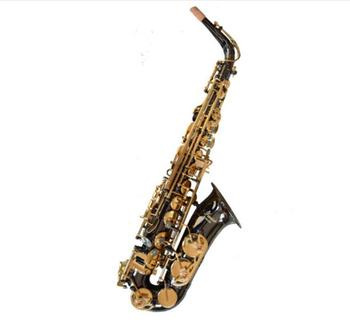 Germany Workmanship Black Nickel Gold Plated Eb Alto Saxophone Brass Tube Instruments Sax E Flat With Case Free Shipping custom yourself logo red bronze alto saxophone antique copper brass instruments music e flat alto sax with case