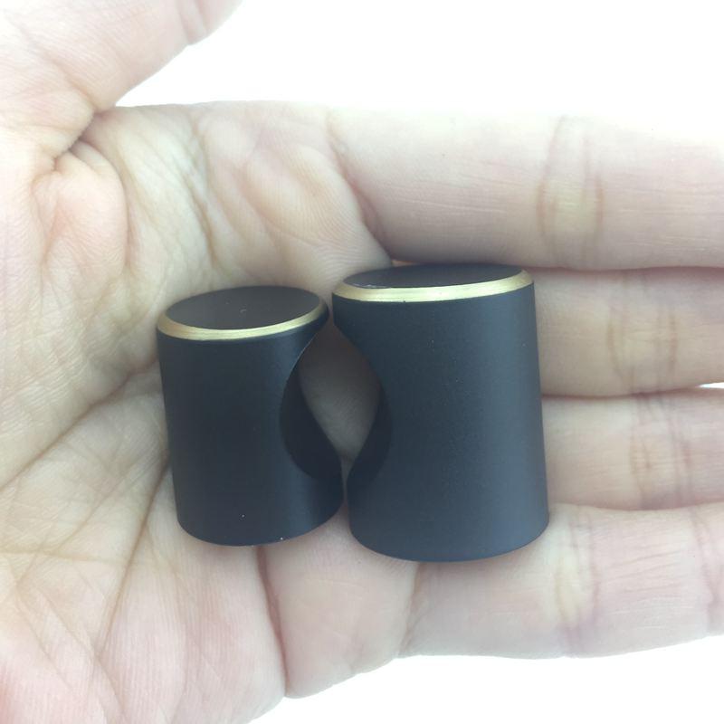 Современный латунный кухонный шкаф ручки черный ящик, комод, шкаф мебельные ручки и Pulls-1Pack