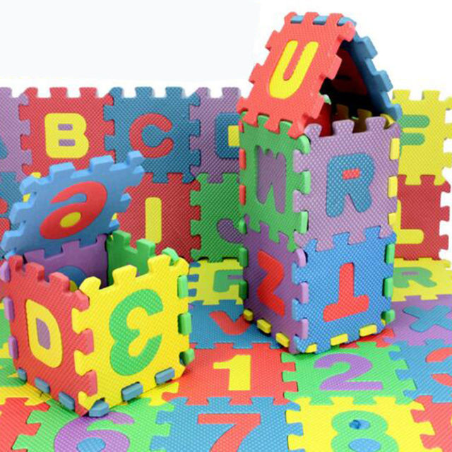 36PCS Baby Kids Eva Foam Numbers And Alphabet Play Mat Educational ...