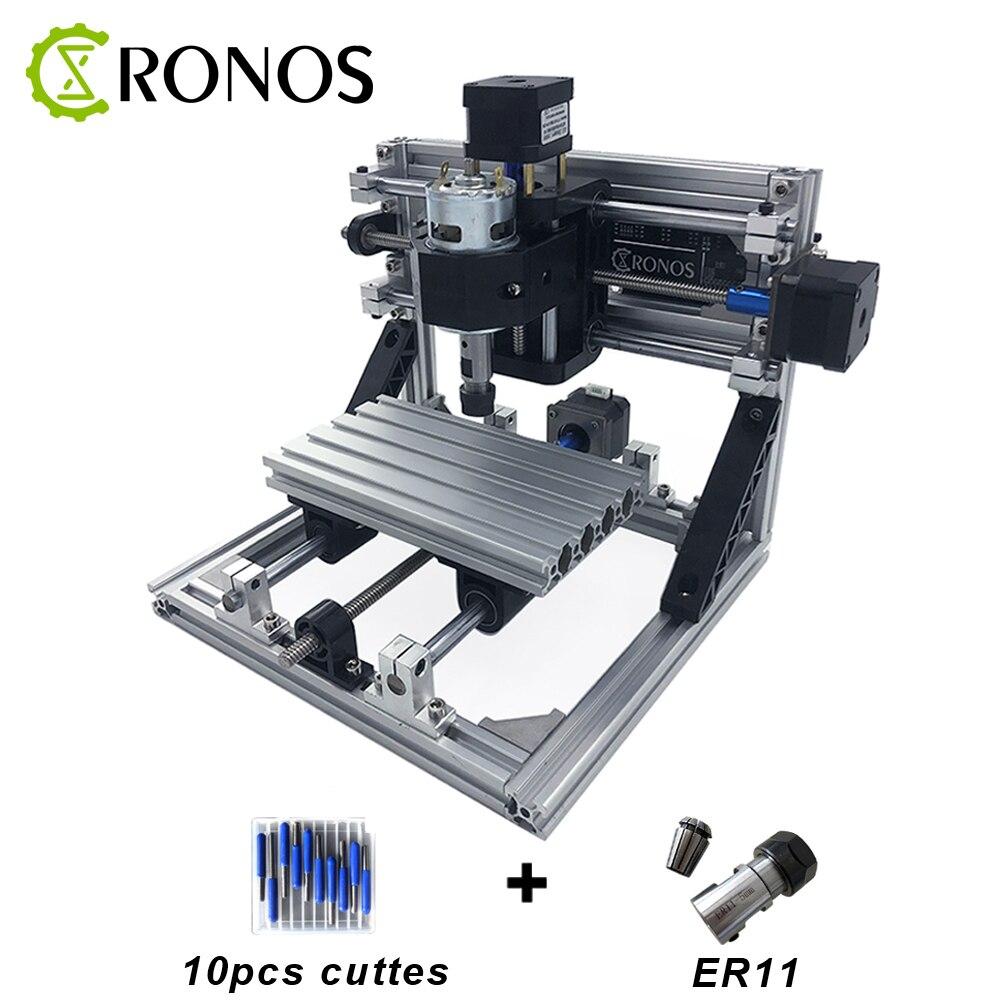CNC 1610 avec Machine de gravure ER11 CNC, zone de travail 16x10x3 cm, routeur en bois, routeur de CNC, graver l'acier inoxydable, le métal