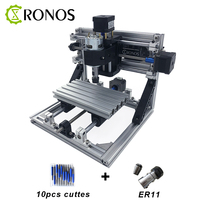 CNC 1610 With ER11 CNC Engraving Machine Working Area 16x10x3cm Wood Router CNC Router Engrave Stainless
