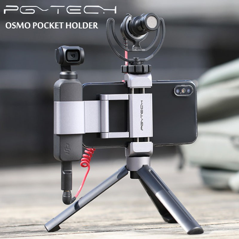 PGYTECH DJI Osmo Pocket Accessories Foldable Phone Holder Plus Bracket Set Of PGYTECH Newest Product IN