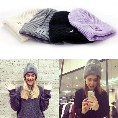 2016 New Fashion Casual Cute Hats Smile Wool Women Hats & Caps For Winter Autmn One Size 4 Colors